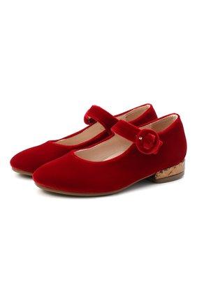 Детские балетки BEBERLIS красного цвета, арт. 21557/28-30 | Фото 1
