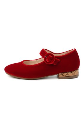 Детские балетки BEBERLIS красного цвета, арт. 21557/28-30 | Фото 2