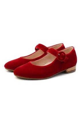 Детские балетки BEBERLIS красного цвета, арт. 21557/31-34 | Фото 1