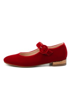 Детские балетки BEBERLIS красного цвета, арт. 21557/31-34 | Фото 2