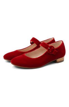 Детские балетки BEBERLIS красного цвета, арт. 21557/35-38 | Фото 1