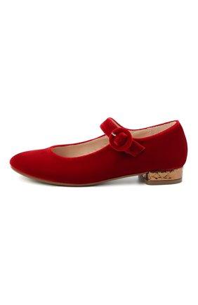 Детские балетки BEBERLIS красного цвета, арт. 21557/35-38 | Фото 2