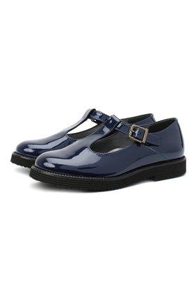 Детские кожаные туфли BEBERLIS синего цвета, арт. 21707/28-30 | Фото 1