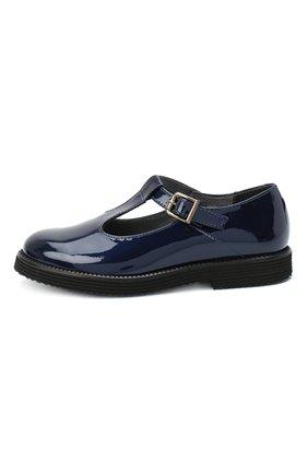 Детские кожаные туфли BEBERLIS синего цвета, арт. 21707/28-30 | Фото 2