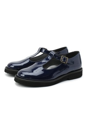 Детские кожаные туфли BEBERLIS синего цвета, арт. 21707/35-38 | Фото 1