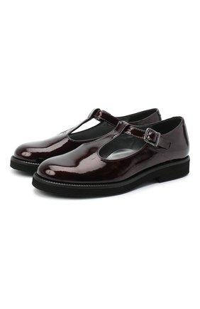 Детские кожаные туфли BEBERLIS бордового цвета, арт. 21707-A/35-38 | Фото 1