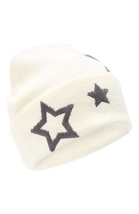 Детского шерстяная шапка CATYA белого цвета, арт. 024519   Фото 1