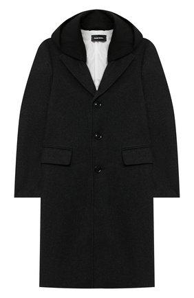 Детское пальто DIESEL серого цвета, арт. 00J52R-KXB1K | Фото 1