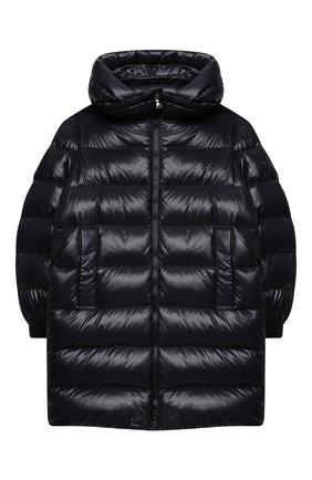 Детское пуховое пальто MONCLER темно-синего цвета, арт. F2-954-1C514-20-68950/8-10A | Фото 1