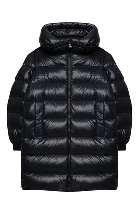 Детское пуховое пальто MONCLER темно-синего цвета, арт. F2-954-1C514-20-68950/12-14A | Фото 1