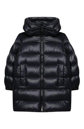 Детское пуховое пальто MONCLER темно-синего цвета, арт. F2-954-1C514-20-68950/4-6A | Фото 1
