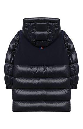 Детское пуховое пальто MONCLER темно-синего цвета, арт. F2-954-1C514-20-68950/4-6A | Фото 2