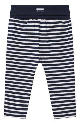 Детские хлопковые брюки SANETTA FIFTYSEVEN темно-синего цвета, арт. 901882 | Фото 1