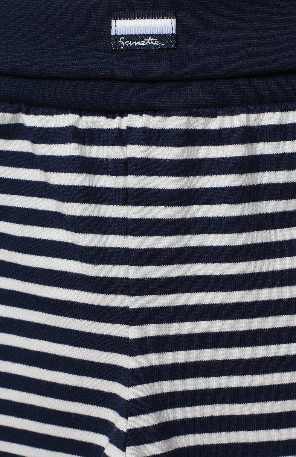 Детские хлопковые брюки SANETTA FIFTYSEVEN темно-синего цвета, арт. 901882 | Фото 3