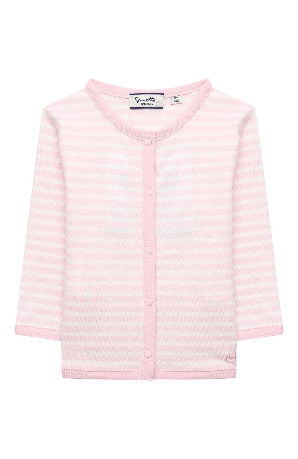 Детский хлопковый жакет SANETTA FIFTYSEVEN светло-розового цвета, арт. 901881 | Фото 1