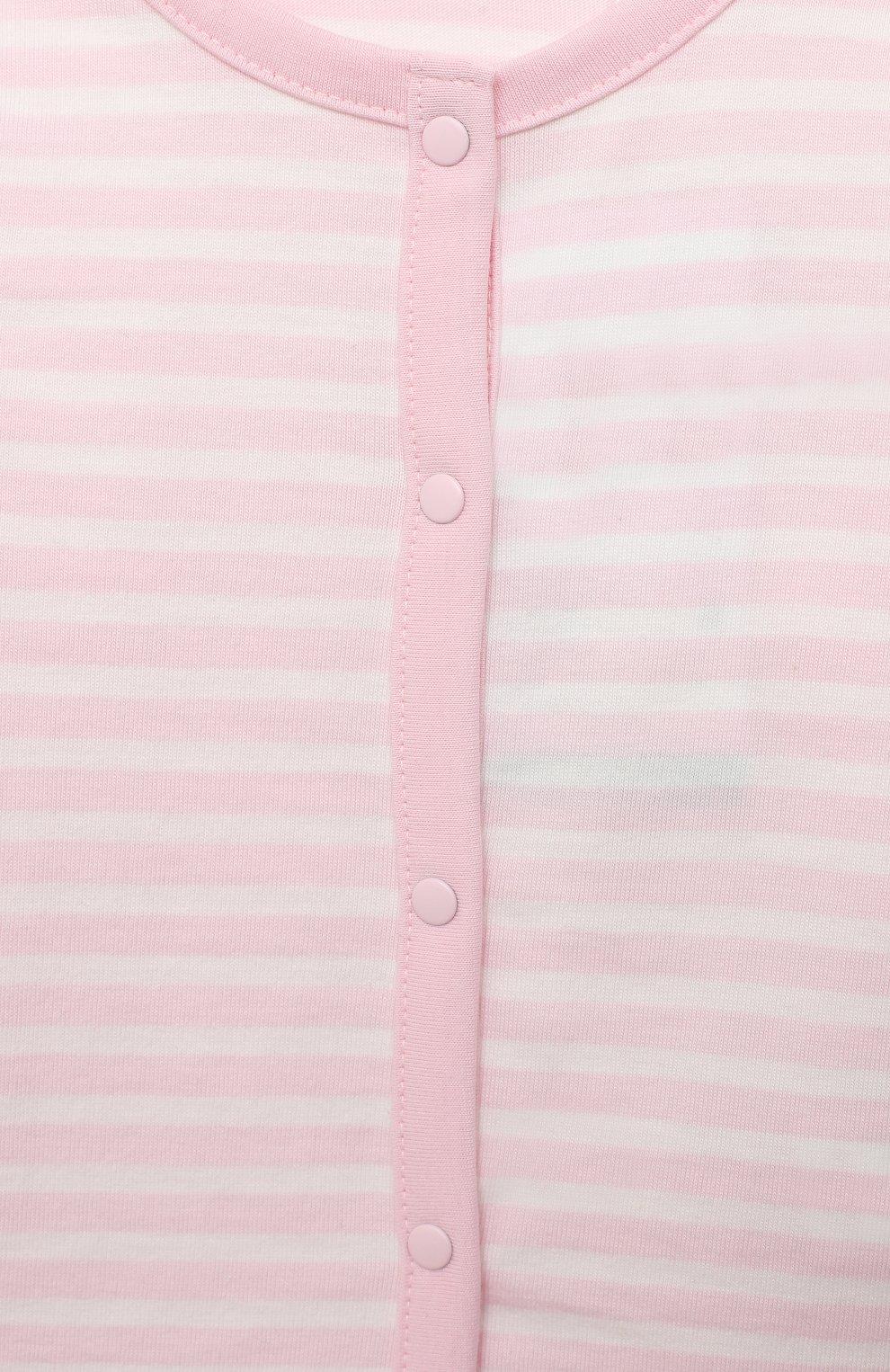 Детский хлопковый жакет SANETTA FIFTYSEVEN светло-розового цвета, арт. 901881 | Фото 3