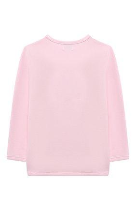 Детский хлоповый свитшот SANETTA FIFTYSEVEN светло-розового цвета, арт. 901877 | Фото 2