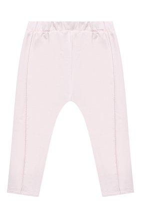 Детские хлопковые брюки SANETTA FIFTYSEVEN светло-розового цвета, арт. 906872 | Фото 1
