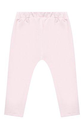 Детские хлопковые брюки SANETTA FIFTYSEVEN светло-розового цвета, арт. 906872 | Фото 2