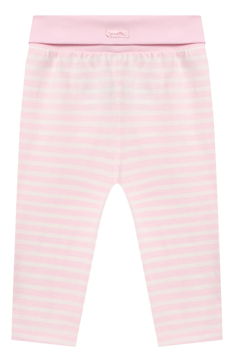 Детские хлопковые брюки SANETTA FIFTYSEVEN светло-розового цвета, арт. 901882 | Фото 1