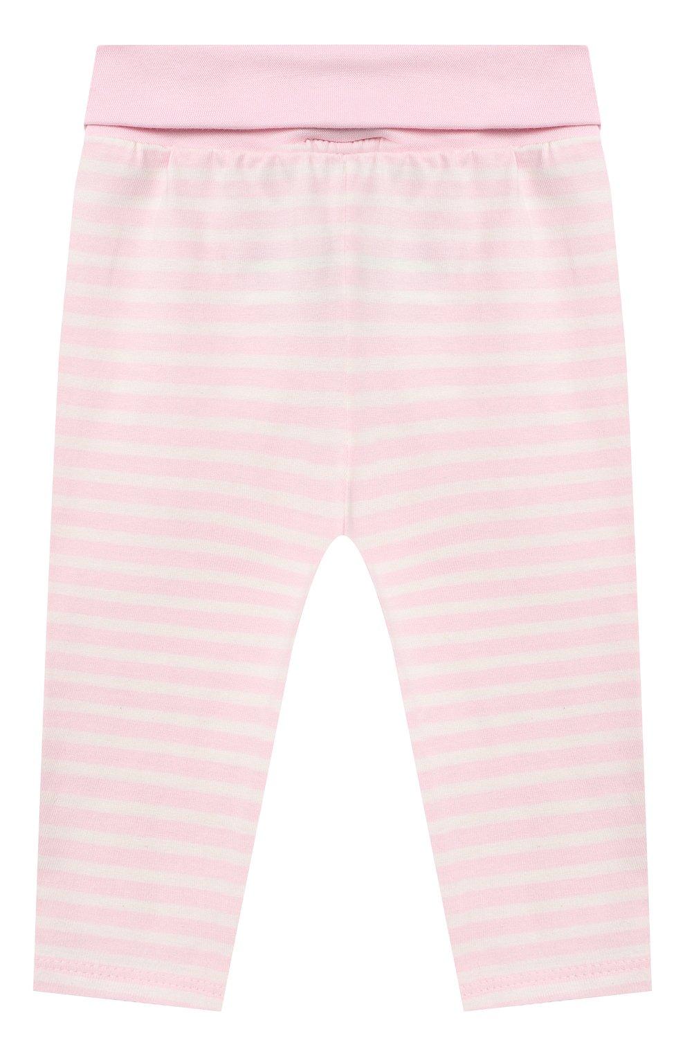 Детские хлопковые брюки SANETTA FIFTYSEVEN светло-розового цвета, арт. 901882 | Фото 2
