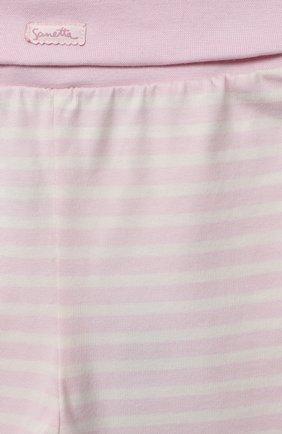 Детские хлопковые брюки SANETTA FIFTYSEVEN светло-розового цвета, арт. 901882 | Фото 3
