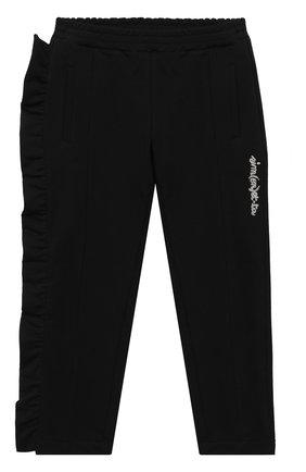 Детские хлопковые брюки SIMONETTA черного цвета, арт. 1N6507/NB270/1-4 | Фото 1