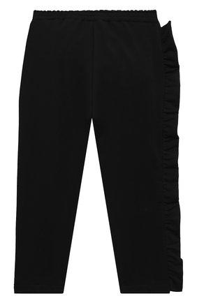 Детские хлопковые брюки SIMONETTA черного цвета, арт. 1N6507/NB270/1-4 | Фото 2