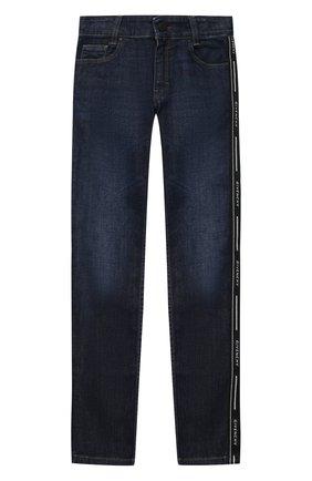 Детские джинсы GIVENCHY синего цвета, арт. H24097 | Фото 1