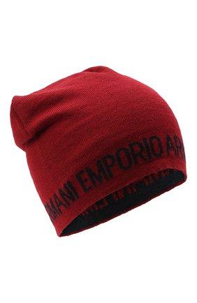 Детского шапка EMPORIO ARMANI красного цвета, арт. 404613/0A465 | Фото 1
