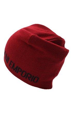 Детского шапка EMPORIO ARMANI красного цвета, арт. 404613/0A465 | Фото 2