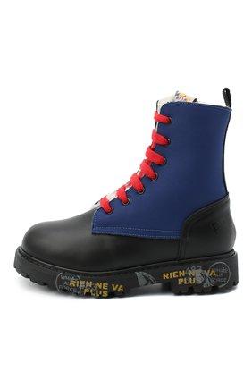 Детские кожаные ботинки PREMIATA WILL BE черного цвета, арт. HI-URBAN-M/11-191461-M/CHILD | Фото 2 (Материал утеплителя: Натуральный мех; Материал внешний: Кожа)