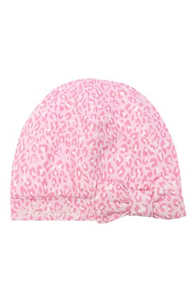 Детского шапка MONNALISA розового цвета, арт. 356017R7 | Фото 1