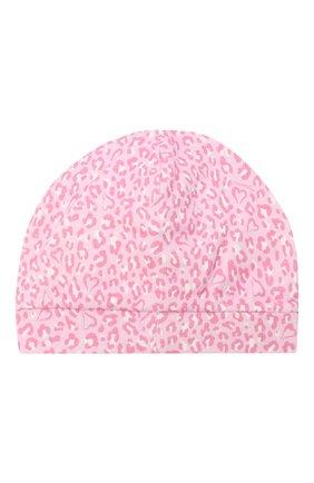 Детского шапка MONNALISA розового цвета, арт. 356017R7 | Фото 2