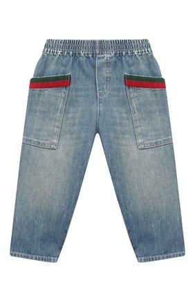 Детские джинсы GUCCI голубого цвета, арт. 615359/XDBAK | Фото 1