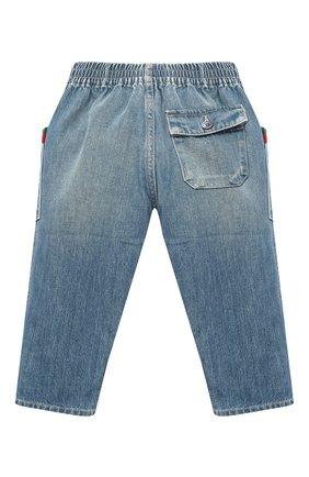 Детские джинсы GUCCI голубого цвета, арт. 615359/XDBAK | Фото 2