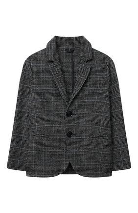 Детский пиджак EMPORIO ARMANI темно-серого цвета, арт. 6H4GJA/4N4PZ | Фото 1