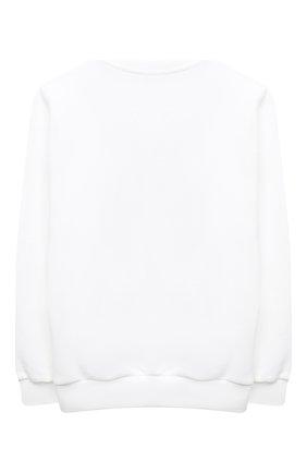 Детский хлопковый свитшот BALMAIN белого цвета, арт. 6N4040/NE060/4-10 | Фото 2