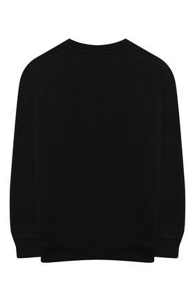 Детский хлопковый свитшот BALMAIN черного цвета, арт. 6N4660/NX300/4-10 | Фото 2