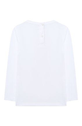 Детская хлопковый лонгслив PHILIPP PLEIN белого цвета, арт. F20C GTK0624 PJY002N | Фото 2
