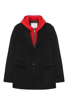 Детское пальто PHILIPP PLEIN черного цвета, арт. F20C BRA0028 PTE003N | Фото 1