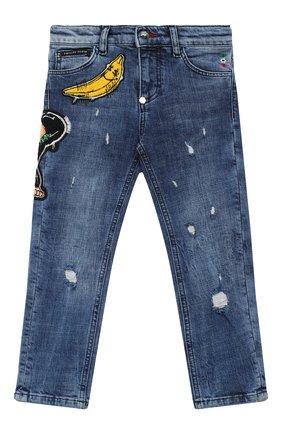 Детские джинсы PHILIPP PLEIN синего цвета, арт. F20C BDT0273 PDE004N | Фото 1