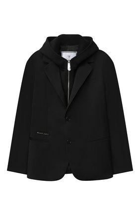 Детский пиджак PHILIPP PLEIN черного цвета, арт. F20C BRF0106 PTE003N | Фото 1