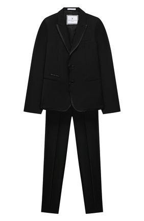 Детский костюм PHILIPP PLEIN черного цвета, арт. F20C BRF0105 PTE003N | Фото 1