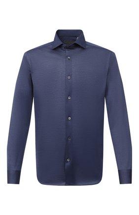 Мужская хлопковая рубашка CORNELIANI синего цвета, арт. 86P012-0811213/00 | Фото 1