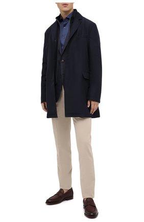 Мужская хлопковая рубашка CORNELIANI синего цвета, арт. 86P012-0811213/00 | Фото 2