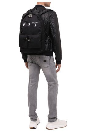 Мужской текстильный рюкзак OFF-WHITE черного цвета, арт. 0MNB003E20FAB0011001 | Фото 2