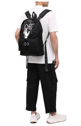 Мужской текстильный рюкзак OFF-WHITE черного цвета, арт. 0MNB003E20FAB0021001 | Фото 2