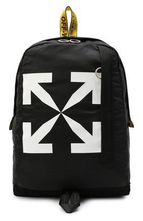 Мужской текстильный рюкзак OFF-WHITE черно-белого цвета, арт. 0MNB019E20FAB0011001 | Фото 1