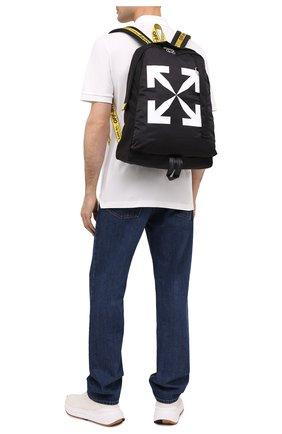 Мужской текстильный рюкзак OFF-WHITE черно-белого цвета, арт. 0MNB019E20FAB0011001 | Фото 2